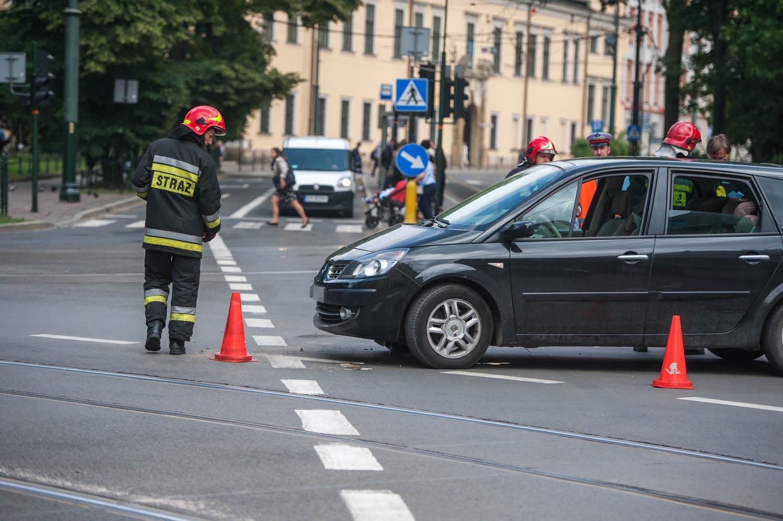 Wypadek na skrzyżowaniu ul. Franciszkańskiej i Straszewskiego