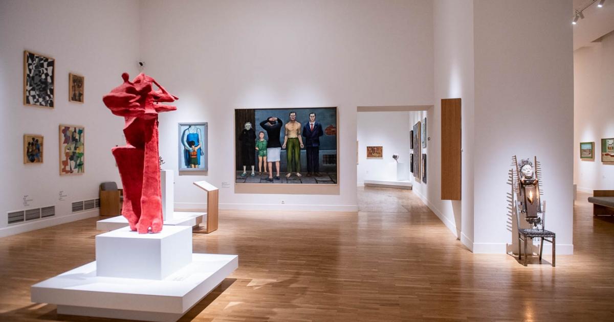O galaxie de artiști în Galeria Națională.  A fost deschisă noua expoziție de artă poloneză din secolele XX și XXI [ZDJĘCIA] – Știri