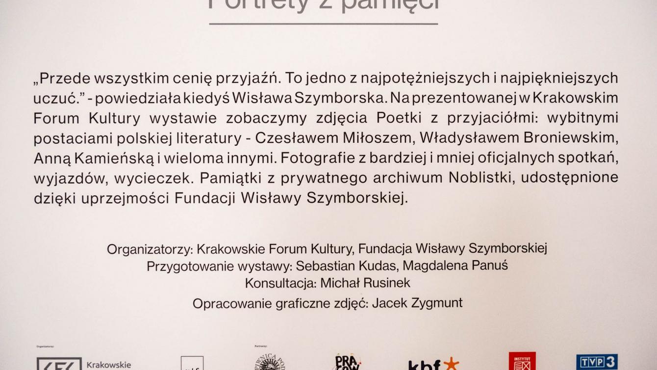 Niektórzy Lubią Poezję O Wisławie Szymborskiej W Krakowskim